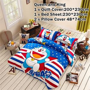 CARTOON BED SHEET DOREAMON 2 DESIGN (FITTED) King Size Bed (8 inch height) N00357 READY STOCK