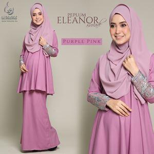 Peplum Eleanor Brocade : Purple Pink