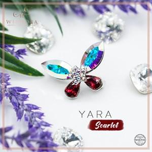 Brooch Yara Aurora Scarlet