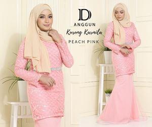 Kurung Karmila Peach Pink