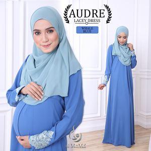 Audre Lacey Dress : Whale Blue