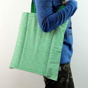 ECO-Super Hero Canvas Foldable Tote Bag (Green Lantern)