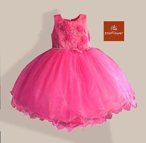 @  PINK - WS-ZF201527-004 ZOE FLOWER DRESS (sz3-8)