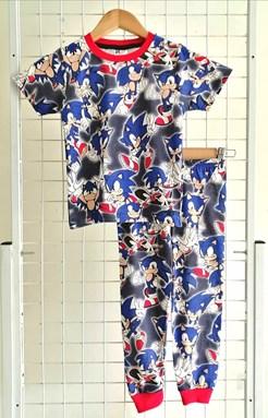 Pyjamas SUPER SONIC BLUE BLACK : BABY size 12m -24m (MYSHA)