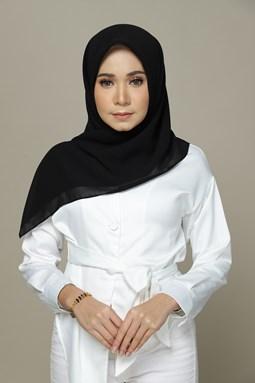 Milea Chiffon Bawal (Black)