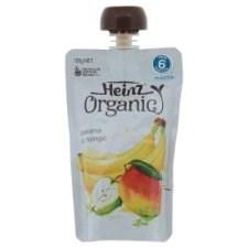 Heinz Organic Banana & Mango Pureed From 6 Months 120g