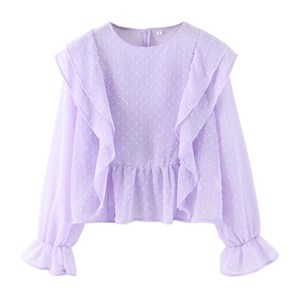 CHIFFON MINI TOP IN LIGHT PURPLE