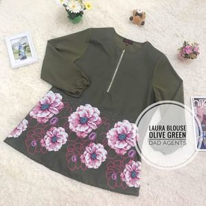 Laura Blouse Olive Green