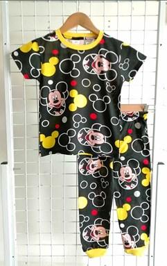Pyjamas MICKEY YELLOW BLACK : BABY size 6M - 24M (HELAL)