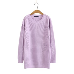 Oversized Knit Pullover (Purple)