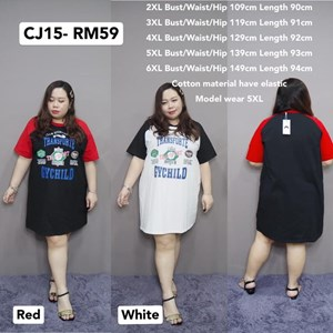 CJ15 Ready Stock  * Bust109-149cm