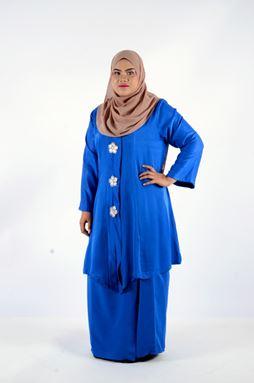 Kebaya Khadeejah - Royal Blue