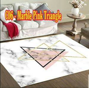 C06 - Marble Pink Triangle