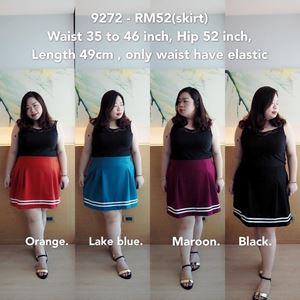 9272 Ready Stock *Waist 36 to 46 inch / 91-117cm