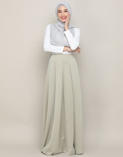 MARIA SKIRT IN PASTEL OLIVE GREEN