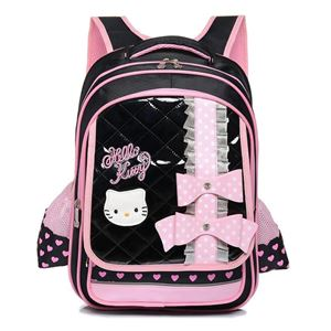 HELLO KITTY SCHOOL BACKPACK (BLACK AND PINK)