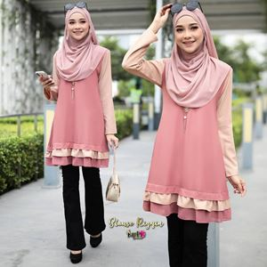BLOUSE RIZQIN - PEACH CREAM