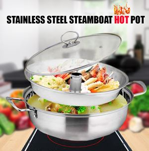 STAINLESS STEEL STEAMBOAT HOT POT