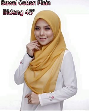 BAWAL COTTON PLAIN B45 (LELONG)