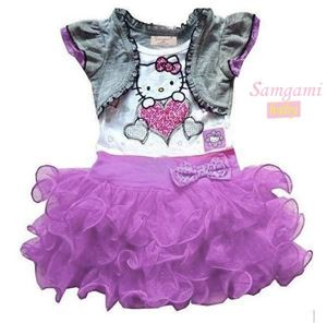 @  P30226-C  KITTY PURPLE DRESS