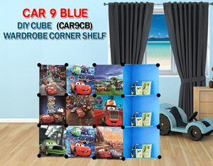 Cars Blue 9C DIY Wardrobe with Corner Shelf (CAR9CB)