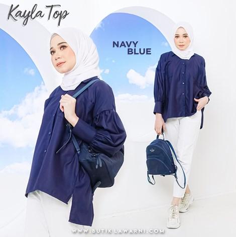 KAYLA TOP NAVY BLUE