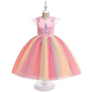 D0056M5  UNICORN PRINCESS DRESS ( PINK )  SIZE 100-150