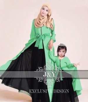 J066 PRINCESS DRESS SET MINT GREEN