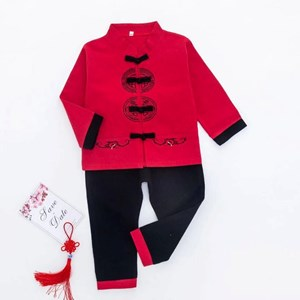 KIDS SAMFU LONG SLEEVE - SET  4  ( SIZE 90-130 )