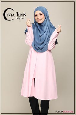 LONG BLOUSE CINTA ( BABY PINK )