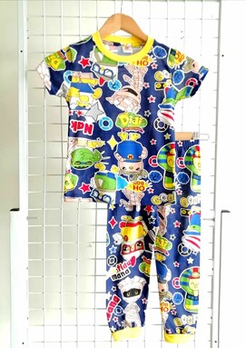 Pyjamas DIDI AND MUMMY DARK BLUE :  BIG Size 12 -18 (GL)