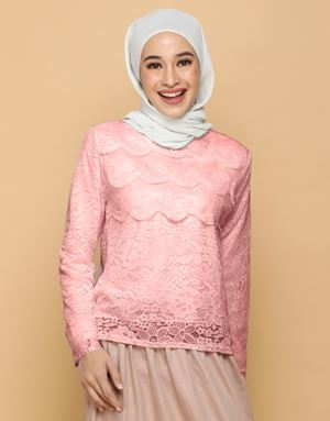 HANNAH LACE TOP IN BLUSH