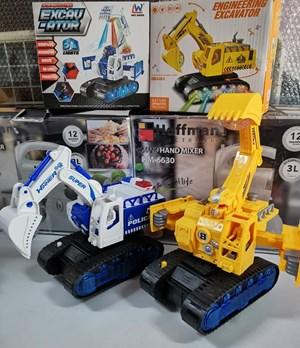 4GL Lighting Excavator Light Music Electric Construction Truck Car Toys Mainan Budak