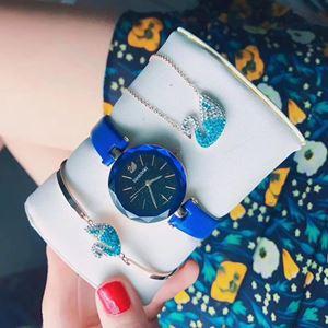 SWR08 A08 Swarovski Elegant Watch Set (Watch + Necklace + Bangle)