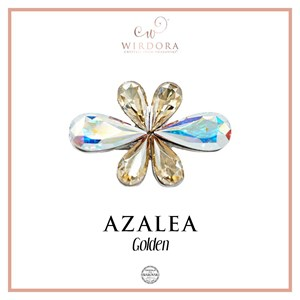 Brooch Azalea Golden