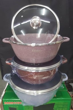 dessini cast aluminum prestige cookware high quality .high specification glass cover 28cm / 32cm