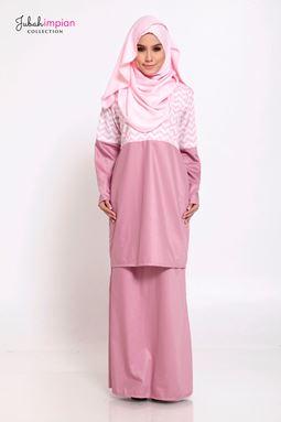 BAJU KURUNG SORAYA  ( Pink )