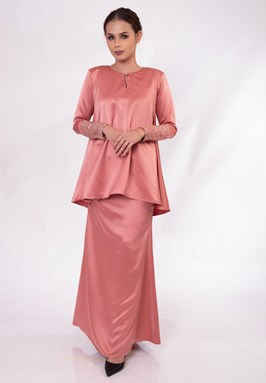 Nalea Doll Kurung (Dusty Pink)