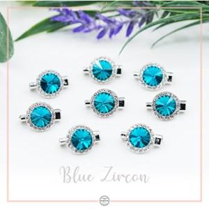 Brooch Rivoli Luxe Blue Zircon