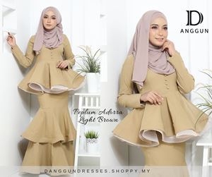 Peplum Adorra Light Brown