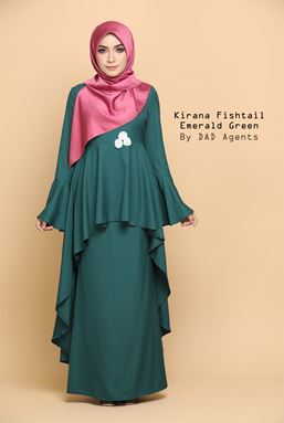 Kirana Fishtail Emerald Green