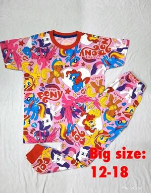 Pyjamas MY LITTLE PONY PINK :  Big Size 12 -18
