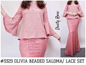 OLIVIA BEADED SALOMA TOP/LACE SET