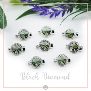 Brooch Rivoli Luxe Black Diamond