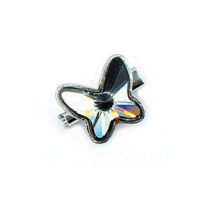 Brooch Butterfly Luxe Silver Night