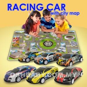 RACING CAR WITH CITY MAP
