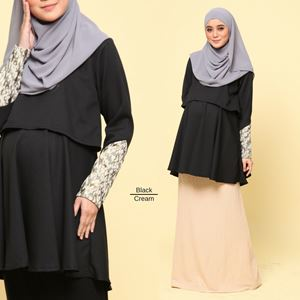 Eleanor Peplum Blouse : Black