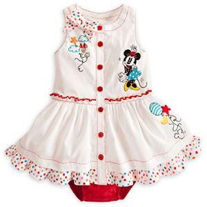 @  210363  WHITE MINNIE DRESS SET ( DRESS + PANTIE )