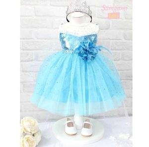 @ G035/14 FROZEN BLUE FLOWER DRESS