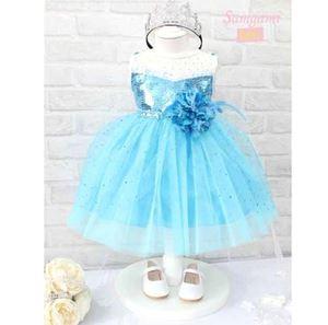 @ G035/14 FROZEN BLUE FLOWER DRESS